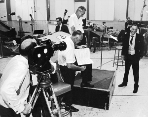 Stan Cornyn in studio with Sinatra