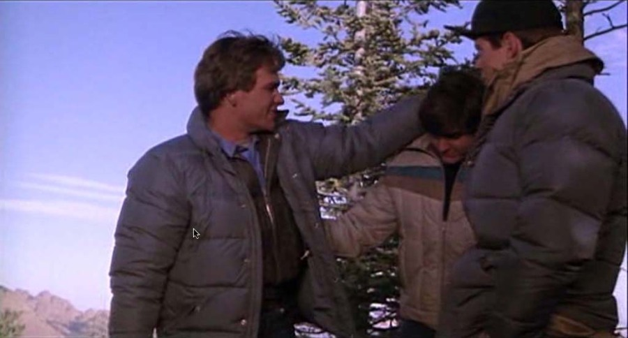 Patrick Swayze, Charlie Sheen, and C. Thomas Howell in Red Dawn