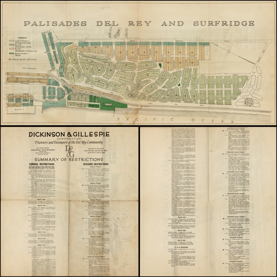 Promotional Street Map of Palisades (Playa) del Rey