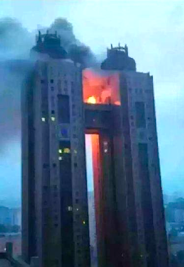 Pictured - the fire Kim Jong-Un didn't want you to see: Images emerge of major blaze at showpiece North Korean hotel which officials refuse to admit happened  | Daily Mail Online