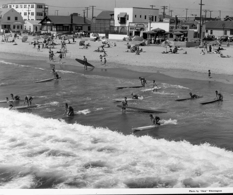 1939 - Surfers at a beach in Venice