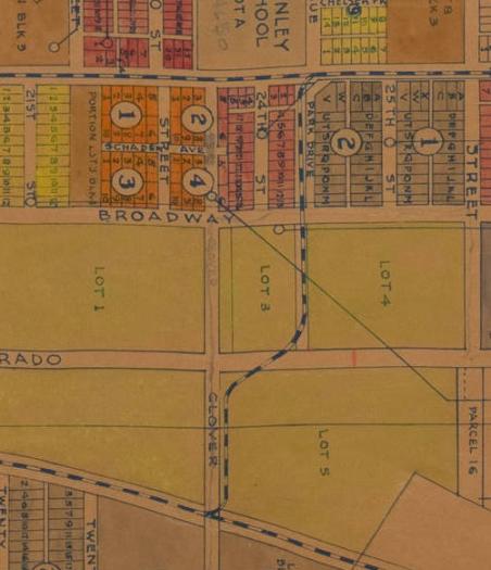 1920s - Santa Monica city tract map