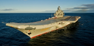 The aircraft carrier Admiral Kuznetsov